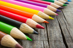 Colorful Wooden Pencil Royalty Free Stock Photos