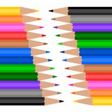 Colorful Wooden Pencil Stock Photos