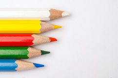 Colorful wooden pencils Royalty Free Stock Photos