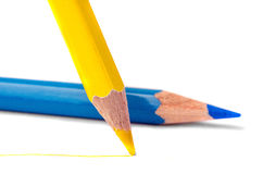 Colorful wooden pencils Stock Photo