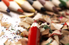Colorful wooden pencils. Different than other. Royalty Free Stock Images