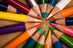 Colorful wooden pencils Stock Image