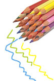 Colorful wooden pencils. Isolated on white background Royalty Free Stock Photo