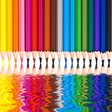 Colorful wooden pencils Stock Images