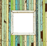 The colorful wooden picture frame Stock Photo