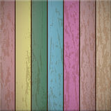 Colorful Wooden plank background Royalty Free Stock Photography