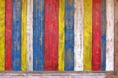 Colorful Wooden Plank Panel Royalty Free Stock Images