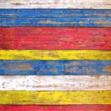 Colorful Wooden Plank Panel Royalty Free Stock Image
