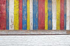 Colorful Wooden Plank Panel Stock Image