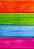 Colorful wooden planks backdrop Stock Images