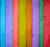 Colorful  Wooden Planks Background Royalty Free Stock Photos