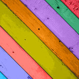 Colorful  Wooden Planks Background Royalty Free Stock Images