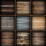 Colorful wooden planks collection Stock Photos