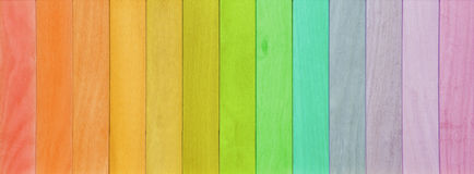 Colorful wooden planks rainbow painted background Stock Image