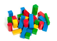 Colorful wooden play blocks Royalty Free Stock Photos