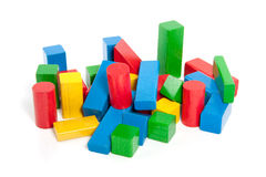 Colorful wooden play blocks Stock Photos