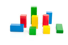 Colorful wooden play blocks Royalty Free Stock Photography