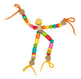 Colorful wooden puppet toy Stock Images