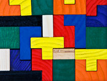 Colorful wooden puzzle Stock Photo