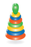 Colorful wooden pyramid toy Stock Images