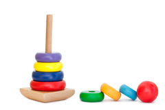 Colorful Wooden Pyramid toy Royalty Free Stock Photography