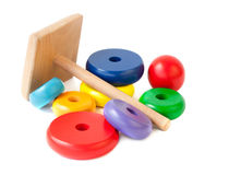 Colorful Wooden Pyramid toy Royalty Free Stock Photo