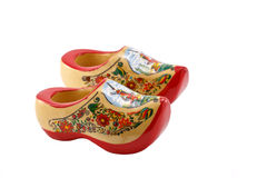 Colorful wooden shoes. Colorful wooden shoes souvenir from Netherlands Stock Photo