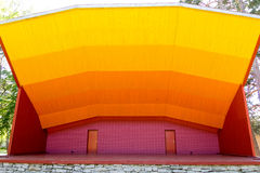 Colorful wooden stage Stock Photography