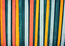 Colorful wooden textured fence background for design or abstract Stock Photos