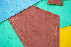 colorful wooden tiles Stock Image