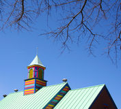 Colorful wooden tower Royalty Free Stock Photos