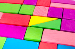 Colorful wooden toy block. Group Stock Images