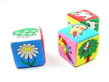 Colorful Wooden Toy Blocks Royalty Free Stock Image