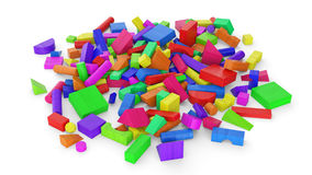Colorful wooden toy blocks Royalty Free Stock Photo