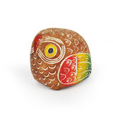 Colorful wooden toy owl Royalty Free Stock Images
