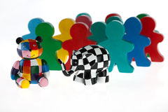 Colorful wooden toys Stock Photo