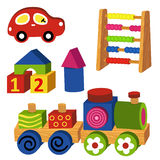 Colorful wooden toys Royalty Free Stock Photography