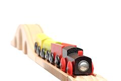 Colorful wooden train Royalty Free Stock Image