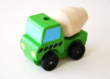 Colorful wooden truck learning toy Royalty Free Stock Images