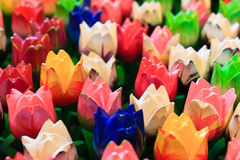 Colorful Wooden Tulips Royalty Free Stock Image