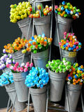 Colorful wooden tulips from Amsterdam Stock Photography