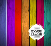 Colorful wooden vector background Stock Photo