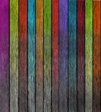 Colorful wooden wall Royalty Free Stock Images