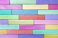 Colorful wooden wall Stock Image