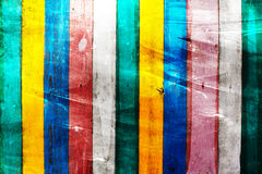 Colorful wooden wall background Stock Image