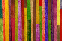Colorful wooden wall background Stock Images