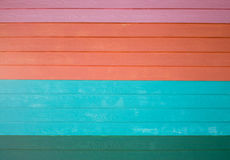 Colorful wooden wall background. Texture Stock Photography