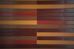 Colorful wooden wall. Royalty Free Stock Photo