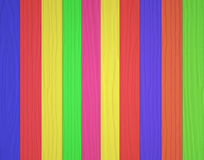 Colorful wooden wall texture background Royalty Free Stock Images