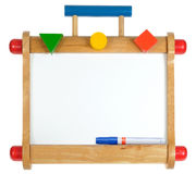 Colorful wooden whiteboard Stock Photography
